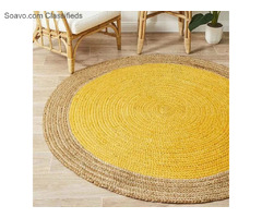 Rectangle Carpets | Hand Woven Jute & Cotton Chindi Carpet
