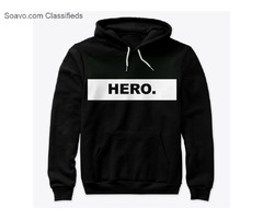 Buy Hoodie, Eco-Unix hoodie with the campaign embrace the hero inside you